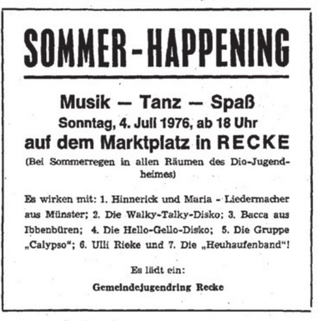 Quelle: Ibbenbürener Volkszeitung, 3. Juli 1976