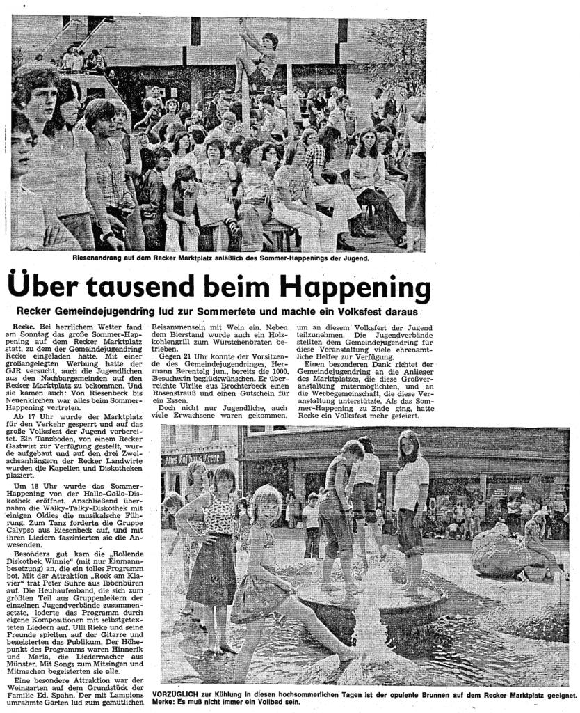 Quelle: Ibbenbürener Volkszeitung, 6. Juli 1976